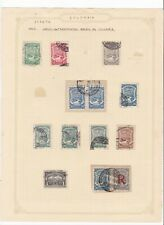 Colombia Air Transport stamps collection on 3 pages