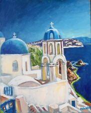 "Original Painting, ""Greece"", Acrylic on Canvas, 16""x20"", by Christopher Pecharka"