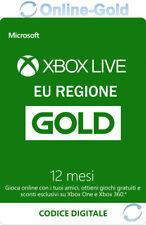 Abbonamento Xbox Live Gold di 12 mesi Codice Microsoft Xbox One 360 chiave - IT