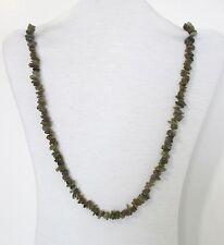 Necklace 32� Long. Nwt Lbte Labradorite Natural Chip Beads Strand