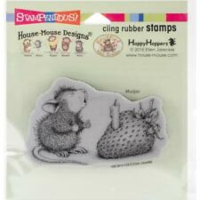 New Stampendous Rubber Stamp cling House Mouse Strawberry Wish Free Us ship