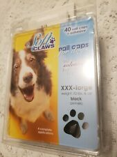Soft Claws Canine Nail Caps - 40 Nail Caps Adhesive Dogs XXX-Large New In Pkg