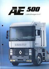 Renault AE 500 Lastkraftwagen 6x2 Prospekt 1992 3/92 brochure prospectus truck