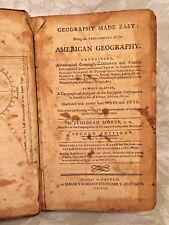 Jedidiah Morse Geography Made Easy Book 2nd Ed 1790 Some Maps Calf Leather
