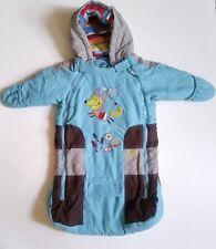 Gagou Tagou Baby Boy's Bear Hood 1-PC Blue Snow Pram Snowsuit  0-12M NEW