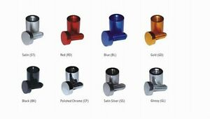 """4 x Pack Standoff Sign Support Wall Mounts 3/4"""" x 1"""" Available in 8 colors"""