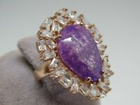 Turkish Handmade Jewelry 925 Sterling Silver Purple Zircon Stone Women Ring Sz 7