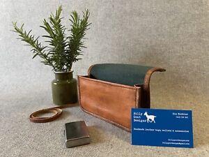 Leather Tobacco Pouch Wallet WTP-Z 50gm Inside Zip Handmade Billy Goat Designs