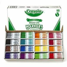 Crayola Broad Line Markers Bulk, 16 Bold Colors, 256 Count Classroom Pack