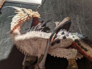 Angry White Dragon Figure