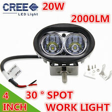 2 X Car 20W Cree LED Spot light Work Light Lamp For 12V/24V Truck ATV Waterproof