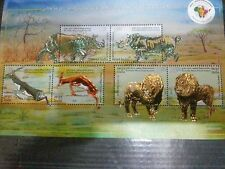 3RD INDIA- AFRICA FORUM SUMMIT EMBOSSED + Ordinary MINIATURE SHEETS MNH