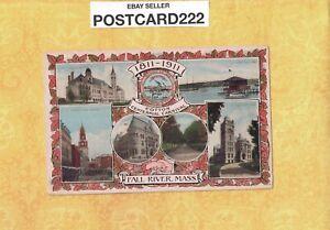 MA Fall River 1911 antique postcard COTTON CENTENNIAL CARNIVAL Mass