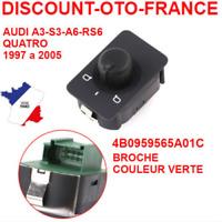 interrupteur bouton réglage retroviseur pour Audi A3-S3-A6-S6-RS6  - 4B0959565A