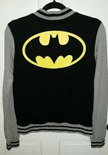 Batman DC Comics logo black gray sleeve jacket. S