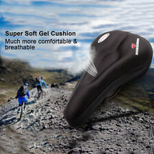 Black Upgraded Silicone Cushion Bike Saddle Pad Cover Soft Cycling/Bicycle Seat