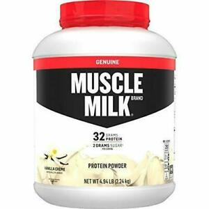 Muscle Milk Genuine Protein Powder Vanilla Crème 32g Protein 4.94 Pound 32 Se...