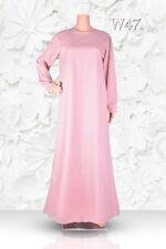 """Plain Abaya UK Sizes 8-22 - Lengths 48""""-62"""" Dress Burkha Kaftan Farasha Jilbab"""