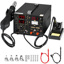 YIHUA 853D BGA Rework Station Hot Air Gun Soldering Iron DC Power Supply 800W