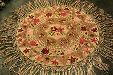 "Antique Original Hungarian MATYO Embroidery Tablecloth  130cm 51.18"""
