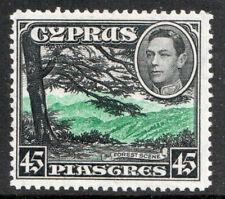 Cyprus KGVI 1938 45pi Green Black SG161 Mint MH