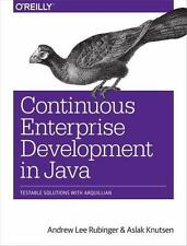 Continuous Enterprise Development in Java (Paperback or Softback)