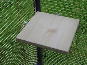 pipano Sitzbrett Ecke 20 x 20 cm, Sitzecke, Schlafplatz, Klein Papagei SE2020