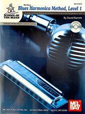 Blues Harmonica Method- School Of The Blues- Level 1 Method Book/Cd Set- New!