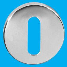 8x 50mm Round Oval Escutcheon SAA Satin Anodised Aluminium Keyhole