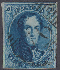 BELGIË 1849 KONING LEOPOLD / MI NR  4 A / MOOIE RAND EN LICHTE STEMPEL