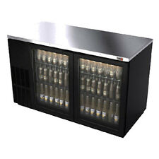 "Fagor Fbb-59G 59.5"" Refrigerated Back Bar Cabinet with 2 Glass Doors"