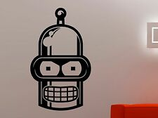 Futurama Vinyl Sticker Bender Wall Decal Cartoon Movie Robot Art Room Decor 5qsz