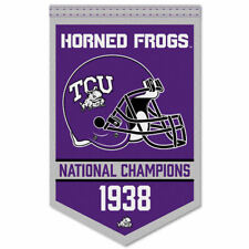 Texas Christian Horned Frogs Football National Champions Banner Flag