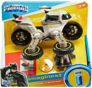 NEW Imaginext Batman and Batcycle DC Super Friends Transforms to Hover Bike