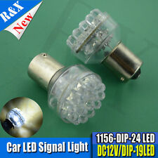 2 x 12V 24 LED BA15S 1156 WHITE GLOBE Automotive/Caravan/Boat/Trailer Light Bulb