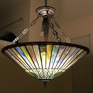 "RADIANCE goods Geometric-Style 3 Light Inverted Ceiling Pendant 22"" Shade"