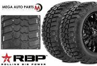 2 RBP Repulsor M/T RX 33X12.50R20LT 114Q 10-Ply/E Off-Road Truck Mud Tires