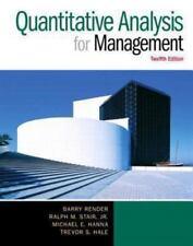 Quantitative Analysis for Management 12th Int'l Edition