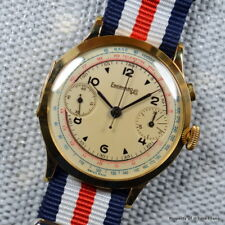 EBERHARD MONOPOUSSOIR 16' 40MM HINGED OFFICERS 18K YELLOW GOLD CASE MANUAL WIND