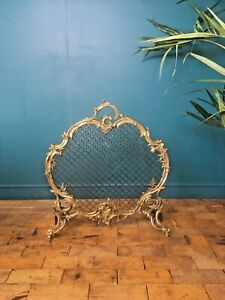SUPERB ANTIQUE C1860 CHARLES CASIER FRENCH ROCOCO FIRE GUARD SCREEN FIREWALL