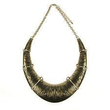 Stunning Chunkyl Gold Torque Collar Statement Designer Style Necklace LaGeNLooK