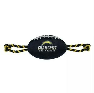 NFL Los Angeles Chargers Pet Toy Nylon Football Tugging Rope Play Dog Toy New