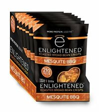 Enlightened Plant Protein Gluten Free Roasted Broad (Fava) Bean Snack, Mesquite