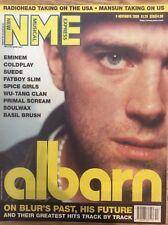 NME New Musical Express 4/11/00 Blur/Damon Albarn, Radiohead, Waterboys, Mansun