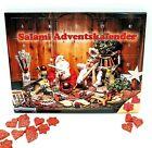 Salami Adventskalender mit 24 Wurst Herzen und Sternchen für die Liebsten