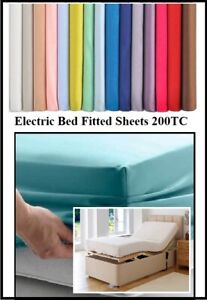 """ELECTRIC BED (36"""" X 78"""") SINGLE FITTED SHEETS 3' X 6'6  OVER 20 COLOURS 260TC"""