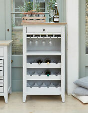 Signature Solid Wood Wine Rack Cabinet Storage Unit Grey and Limed Oak
