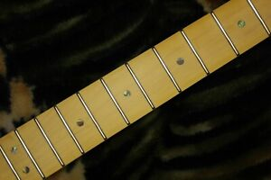 "Deluxe Maple Tele neck Satin,Rosewood Skunk Stripe,New,25.5"",22fret,Abalone Dots"