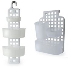 Quality Plastic Hanging Over Cupboard Door Shower Caddy Tidy Organizer