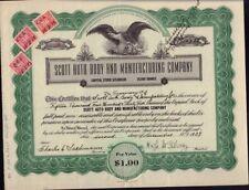 Scott Auto Body and Manufacturing Company Colorado dd 1939